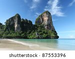 Beautiful scenery in Krabi provence, southern Thailand. - stock photo