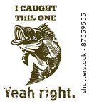 illustration of a largemouth... | Shutterstock . vector #87559555