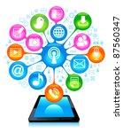 social network  communication... | Shutterstock .eps vector #87560347