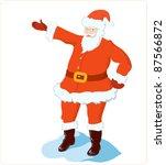 Christmas santa claus - stock vector