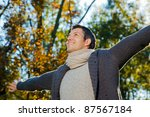 outstretched arms outdoors   Shutterstock . vector #87567184