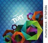 abstract vector background. | Shutterstock .eps vector #87569386