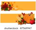 thanksgiving banners   Shutterstock .eps vector #87569947