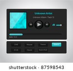 vector glossy audio player with ... | Shutterstock .eps vector #87598543
