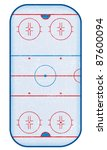 top view of hockey rink... | Shutterstock . vector #87600094