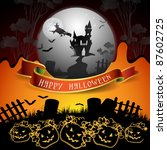 halloween card design | Shutterstock .eps vector #87602725