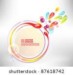 modern droplet circle frame... | Shutterstock .eps vector #87618742