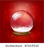 snow globe template | Shutterstock .eps vector #87619510