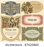 set of labels in style a vintage | Shutterstock .eps vector #87620860