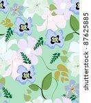 beautiful seamless pattern... | Shutterstock .eps vector #87625885
