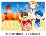 happy autumn festivals | Shutterstock .eps vector #87636016