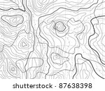 vector black and white map... | Shutterstock .eps vector #87638398