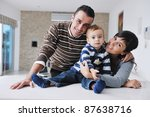 happy young family have fun and ... | Shutterstock . vector #87638716