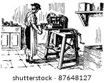 vintage machine tool | Shutterstock .eps vector #87648127