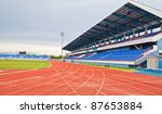stadium main stand and running... | Shutterstock . vector #87653884