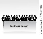 a group of business people with ... | Shutterstock .eps vector #87657307