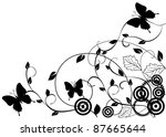 vector floral background with... | Shutterstock .eps vector #87665644