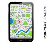 gps navigator in smartphone ...   Shutterstock .eps vector #87668041