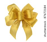 Stylish Gold Bow Glittering On...