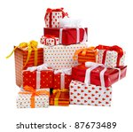 Stack Of Festive Gift Boxes...