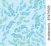 floral seamless texture | Shutterstock .eps vector #87674320
