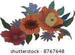 illustration with flowers on... | Shutterstock .eps vector #8767648