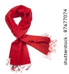 red scarf or pashmina | Shutterstock . vector #87677074