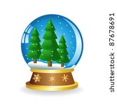christmas ball with fir on a... | Shutterstock .eps vector #87678691