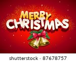 merry christmas. elements are... | Shutterstock .eps vector #87678757