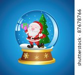 christmas ball with santa on a... | Shutterstock .eps vector #87678766