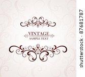 Stock vector vintage floral frame element for design 87681787