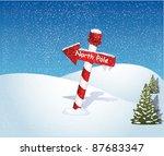north pole | Shutterstock .eps vector #87683347