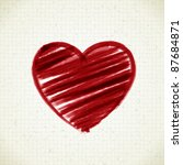 hand drawn heart shape on paper.... | Shutterstock .eps vector #87684871