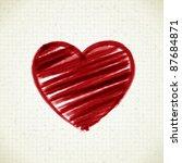 Hand Drawn Heart Shape On Pape...