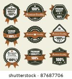 premium quality labels... | Shutterstock .eps vector #87687706