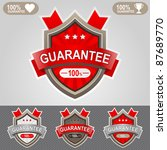 red guarantee shield icon. web... | Shutterstock .eps vector #87689770