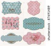 vintage design elements for... | Shutterstock .eps vector #87691489