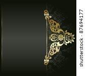 artistic flower golden... | Shutterstock .eps vector #87694177