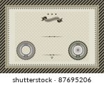 vector template for coupon ... | Shutterstock .eps vector #87695206