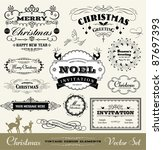 christmas decorative set | Shutterstock .eps vector #87697393