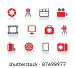 photo and video icons | Shutterstock .eps vector #87698977