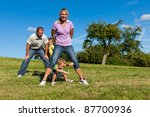 happy family with two little... | Shutterstock . vector #87700936