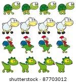 animal walking animations .... | Shutterstock .eps vector #87703012