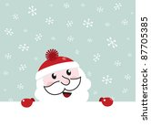 Santa Banner With Snowing...