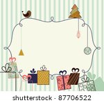 Abstract Christmas Frame In Th...