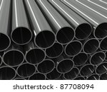 group metal pipe on a white... | Shutterstock . vector #87708094
