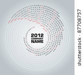 Swirl Calendar 2012