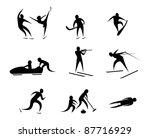 winter sport | Shutterstock .eps vector #87716929
