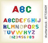 colorful origami alphabet... | Shutterstock .eps vector #87720409