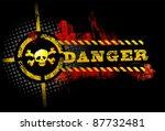 black urban grunge danger skull ... | Shutterstock .eps vector #87732481